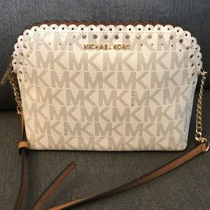 NEW Michael Kors Cindy Dome Scalloped Crossbody